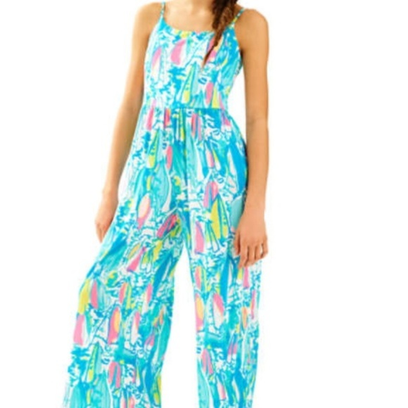 832d409cf11 Lilly Pulitzer Other - Lilly Pulitzer Girls Rosina Jumpsuit Beach Bae XL